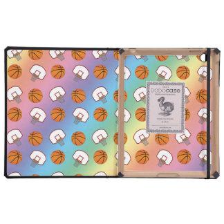 Modelo de los baloncestos y de las redes del arco iPad cárcasas