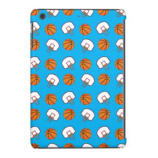 Modelo de los baloncestos y de las redes del azul fundas de iPad mini