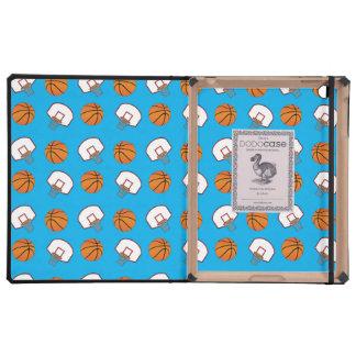 Modelo de los baloncestos y de las redes del azul iPad cárcasa