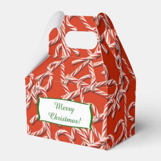Modelo de los bastones de caramelo del navidad cajas para regalos de boda