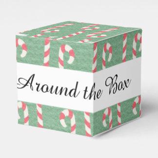 Modelo de los bastones de caramelo del vintage caja para regalos