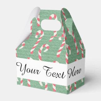 Modelo de los bastones de caramelo del vintage cajas para regalos