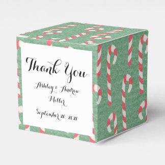Modelo de los bastones de caramelo del vintage cajas para regalos de boda