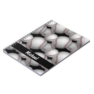 Modelo de los béisboles libros de apuntes con espiral