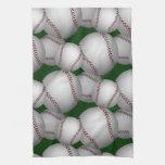 Modelo de los béisboles toalla de mano