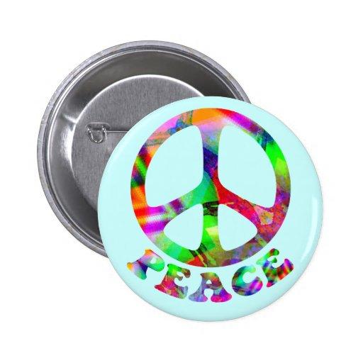 Modelo de los botones de la paz pin