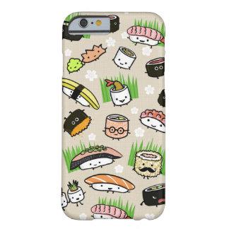 Modelo de los caracteres del sushi funda de iPhone 6 barely there