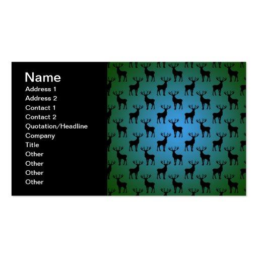 Modelo de los ciervos del dólar en verde azul tarjetas de negocios