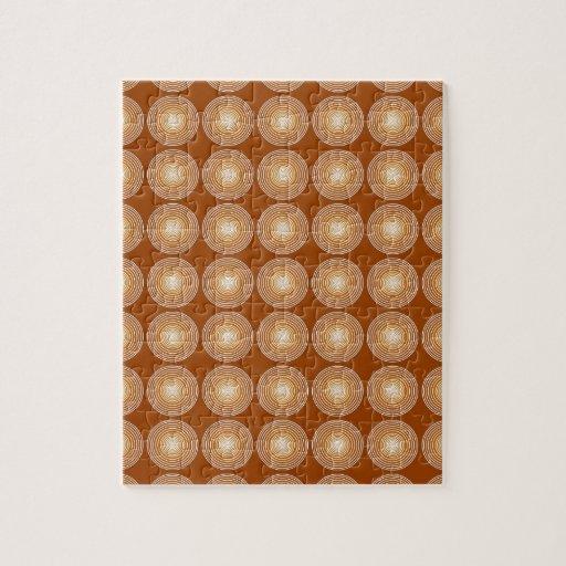 Modelo de los círculos de color del azafrán puzzles con fotos