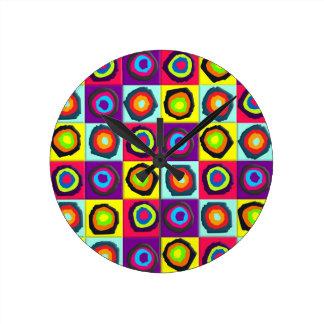 modelo de los círculos reloj de pared