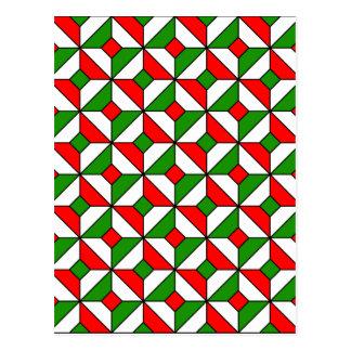 modelo de los colores del navidad postal
