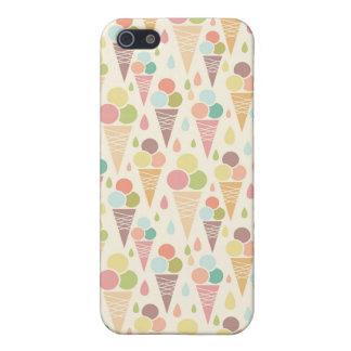 Modelo de los conos de helado iPhone 5 funda