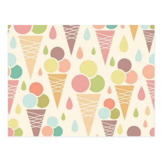 Modelo de los conos de helado postal