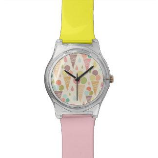 Modelo de los conos de helado reloj de mano