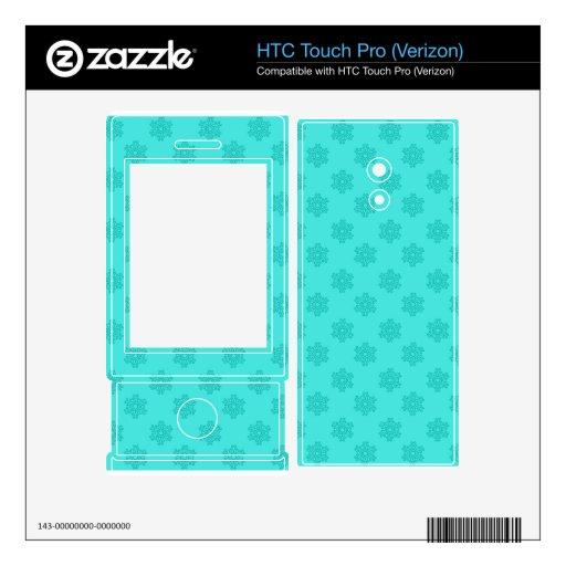 Modelo de los copos de nieve de la turquesa HTC touch pro skins