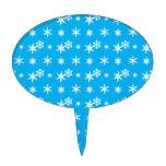 Modelo de los copos de nieve del azul de cielo del figuras para tartas