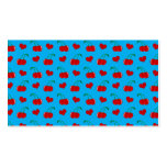 modelo de los corazones de la cereza del azul de c plantillas de tarjeta de negocio