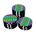 Modelo de los corazones del arco iris de la turque fichas de póquer