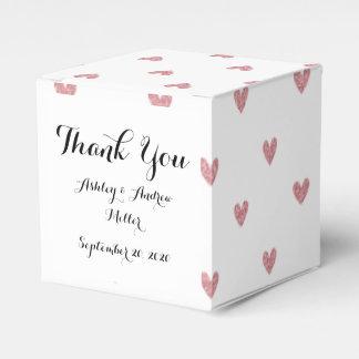 Modelo de los corazones del brillo del rosa color cajas para regalos