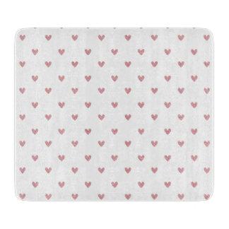 Modelo de los corazones del brillo del rosa color tablas de cortar
