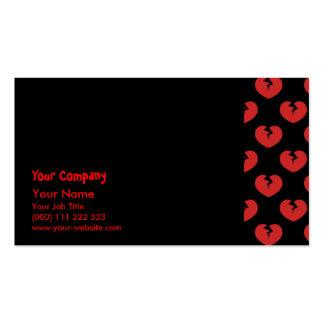 Modelo de los corazones quebrados tarjetas de negocios