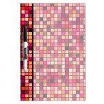 Modelo de los cuadrados de los tonos del rosa, del pizarras blancas de calidad