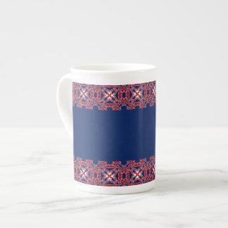 Modelo de los cuernos taza de porcelana