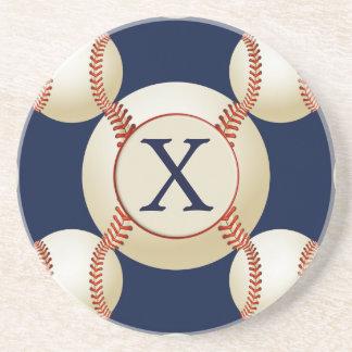 Modelo de los deportes de las bolas del béisbol posavasos diseño