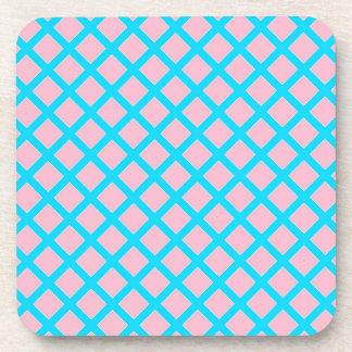 Modelo de los diamantes del rosa en colores pastel posavaso