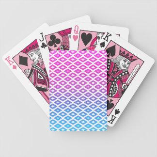 Modelo de los diamantes - naipes rosados