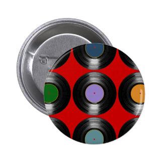 modelo de los discos de vinilo del color pin redondo 5 cm