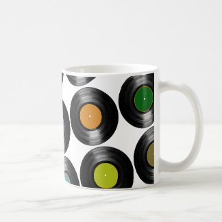 modelo de los discos de vinilo del color taza de café