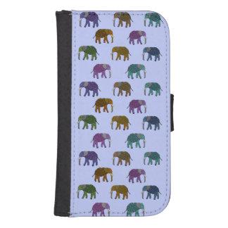 Modelo de los elefantes africanos fundas cartera para teléfono