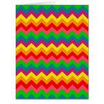 Modelo de los galones del arco iris del multicolor tarjeta de felicitación grande