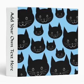 """Modelo de los gatos negros en azul carpeta 1 1/2"""""""
