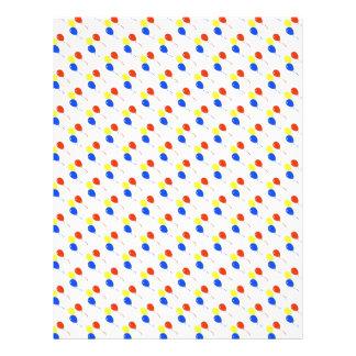 modelo de los globos tarjetas informativas