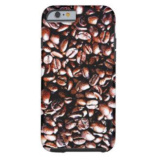 Modelo de los granos de café - carne asada oscura funda de iPhone 6 tough