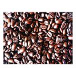 Modelo de los granos de café - carne asada oscura arte con fotos