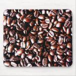 Modelo de los granos de café - carne asada oscura alfombrillas de ratones