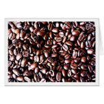Modelo de los granos de café - carne asada oscura tarjeta