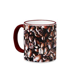 Modelo de los granos de café - carne asada oscura taza de dos colores