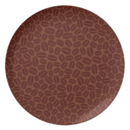 Modelo de los granos de café plato para fiesta