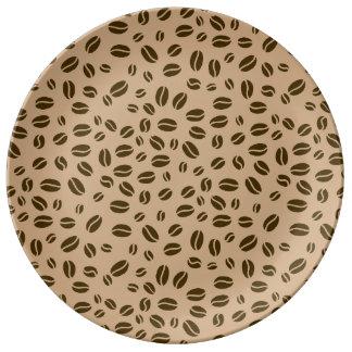 Modelo de los granos de café platos de cerámica