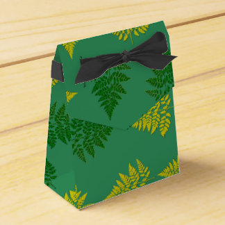 Modelo de los helechos cajas para regalos de fiestas