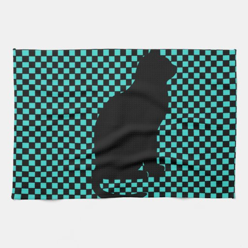 Modelo de los inspectores del trullo del gato negr toalla de mano