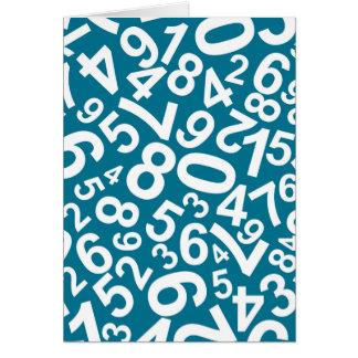 Modelo de los números al azar tarjeta pequeña