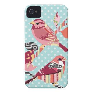modelo de los pájaros Case-Mate iPhone 4 protectores