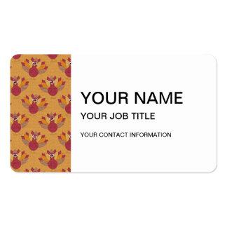 Modelo de los pavos de la acción de gracias plantilla de tarjeta personal