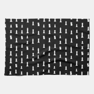 Modelo de los pedazos de ajedrez - blanco y negro toallas