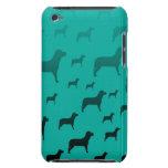 Modelo de los perros negros iPod Case-Mate protectores
